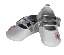 TRESSURE BOX SHOE White with pink flower