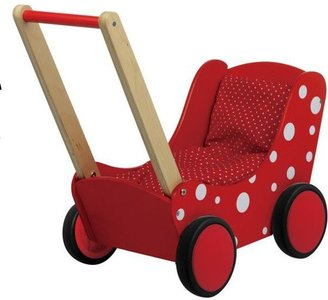 Poppenwagen Simply for kids Rood - Wit Stippen